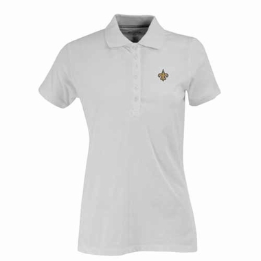 New Orleans Saints Womens Spark Polo (Color: White)