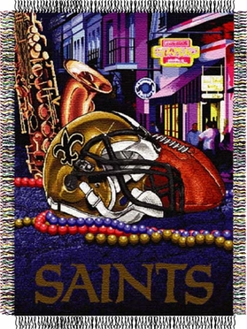 New Orleans Saints Woven Tapestry Blanket