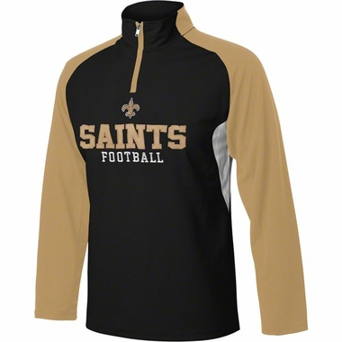 New Orleans Saints YOUTH 1/4 Zip Lightweight Pullover Jacket