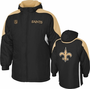 New Orleans Saints YOUTH Field Goal Midweight Full Zip Hooded Jacket