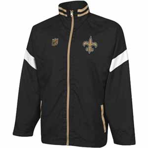 New Orleans Saints YOUTH Goal Post Lightweight Full Zip Jacket - Large