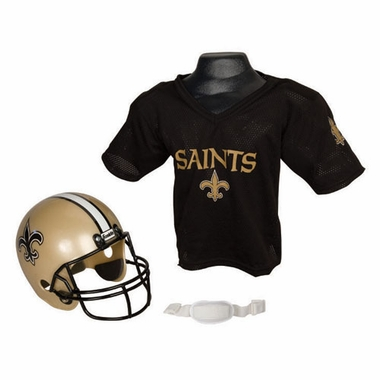 New Orleans Saints Youth Helmet and Jersey Set