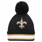 Men's New Orleans Saints '47 Brand Charcoal Breakaway Cuffed Knit Hat with Pom