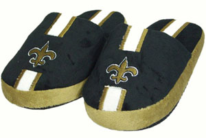 New Orleans Saints YOUTH Team Stripe Slide Slippers