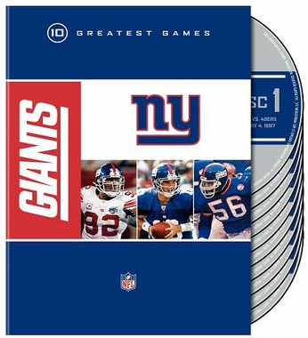 New York Giants 10 Greatest Games DVD