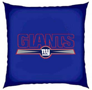 New York Giants 15 Inch Applique Pillow