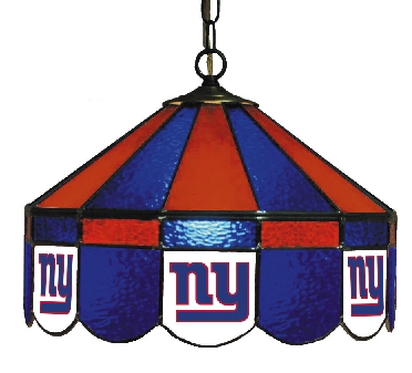 New York Giants 16 Inch Diameter Stained Glass Pub Light
