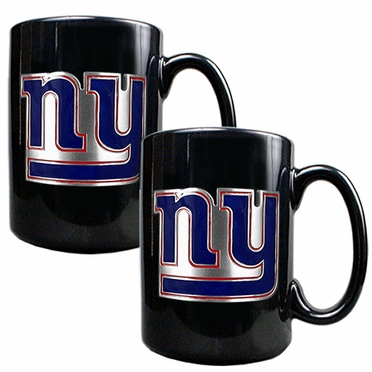 New York Giants 2 Piece Coffee Mug Set