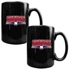 New York Giants 2 Piece Coffee Mug Set (Wordmark)