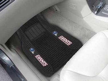 New York Giants 2 Piece Heavy Duty DELUXE Vinyl Car Mats