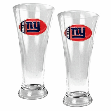 New York Giants 2 Piece Pilsner Glass Set