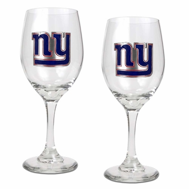 New York Giants 2 Piece Wine Glass Set