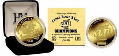 New York Giants New York Giants 24KT Gold Super Bowl XLII Champions Coin