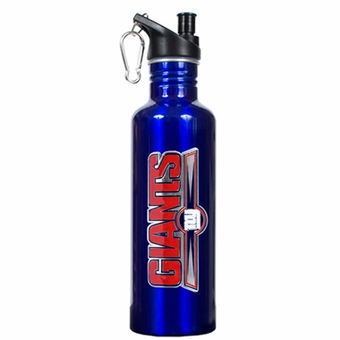 New York Giants 26oz Stainless Steel Water Bottle (Team Color)