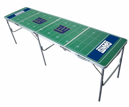 New York Giants 2x8 Tailgate Table