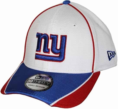 New York Giants 39THIRTY Abrasion Plus Fitted Hat - White