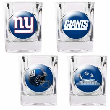 New York Giants 4 Piece Assorted Shot Glass Set