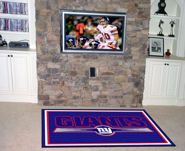 New York Giants 5 Foot x 8 Foot Rug
