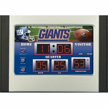 New York Giants Alarm Clock Desk Scoreboard