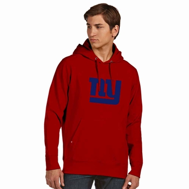 New York Giants Big Logo Mens Signature Hooded Sweatshirt (Alternate Color: Red) - Medium