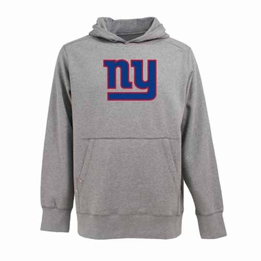 New York Giants Big Logo Mens Signature Hooded Sweatshirt (Color: Gray)