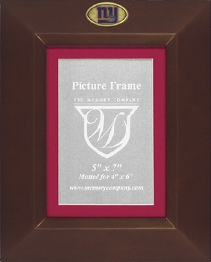 New York Giants BROWN Portrait Picture Frame