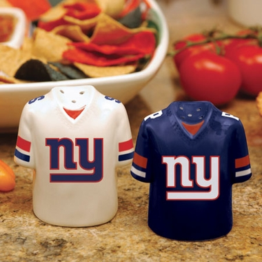 New York Giants Ceramic Jersey Salt and Pepper Shakers