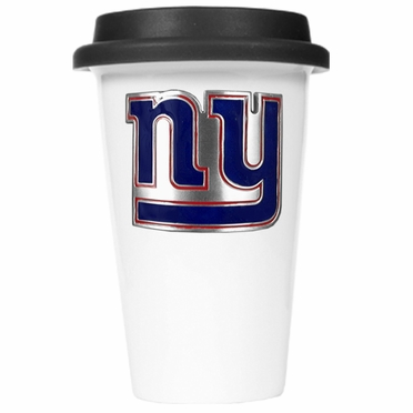New York Giants Ceramic Travel Cup (Black Lid)
