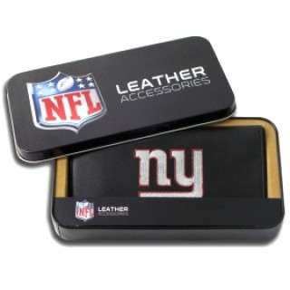 New York Giants Embroidered Leather Checkbook Cover