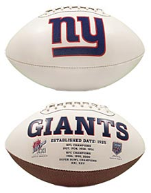 New York Giants Embroidered Signature Series Football