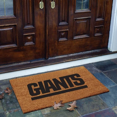 New York Giants Flocked Coir Doormat