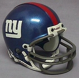 New York Giants Football Helmet - Mini Replica