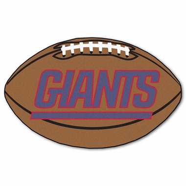 New York Giants Football Shaped Rug