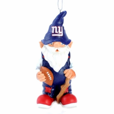 New York Giants Gnome Christmas Ornament