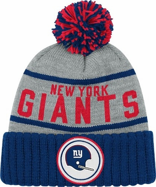 New York Giants High 5 Vintage Cuffed Pom Hat