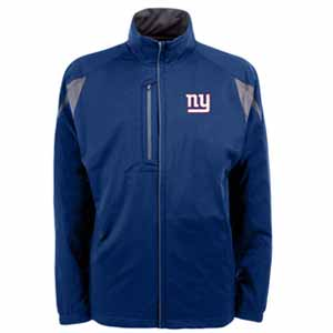 New York Giants Mens Highland Water Resistant Jacket (Team Color: Royal) - Small