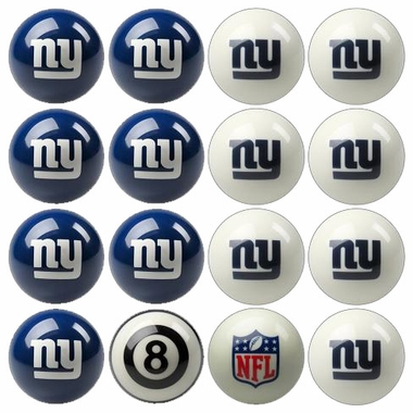 New York Giants Home and Away Complete Billiard Ball Set