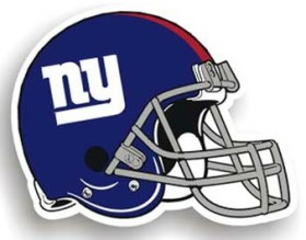 New York Giants Individual Car Magnet