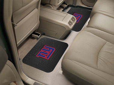 New York Giants SET OF 2 Heavy Duty Vinyl Rear Car Mats