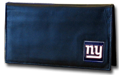 New York Giants Leather and Nylon Checkbook Cover (F)
