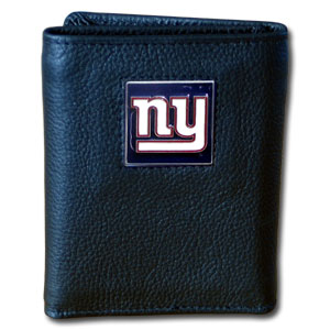 New York Giants Leather Trifold Wallet (F)
