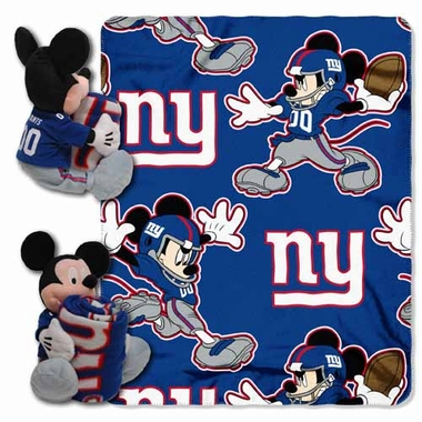 New York Giants Mickey Mouse Pillow / Throw Combo