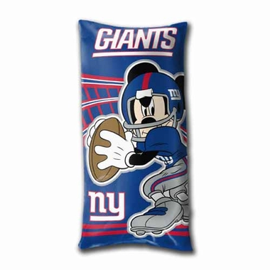 New York Giants Mickey Mouse YOUTH Body Pillow