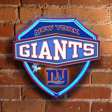 New York Giants Neon Shield Wall Lamp