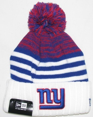 New York Giants New Era NFL Snowfall Stripe Cuffed Knit Hat