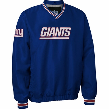 New York Giants NFL Pre-Season Wordmark Pullover Blue Jacket