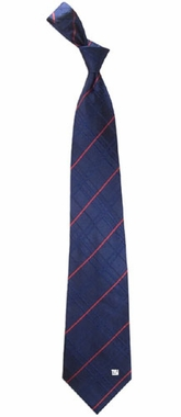 New York Giants Oxford Stripe Woven Silk Necktie