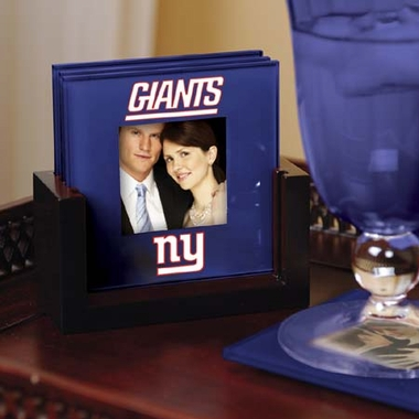 New York Giants Photo Coaster Set
