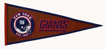 New York Giants Pigskin Pennant