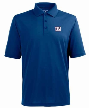 New York Giants Mens Pique Xtra Lite Polo Shirt (Team Color: Royal)